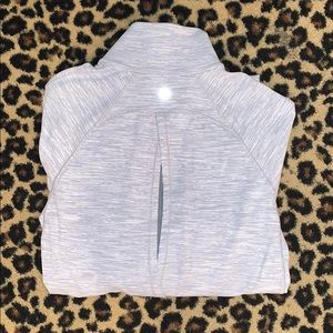 LululemonAthletica heather grey mesh zip-up jacket